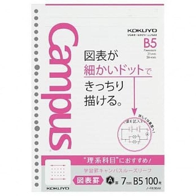 KOKUYO 學習專用Campus活頁紙 理組圖表31行 1
