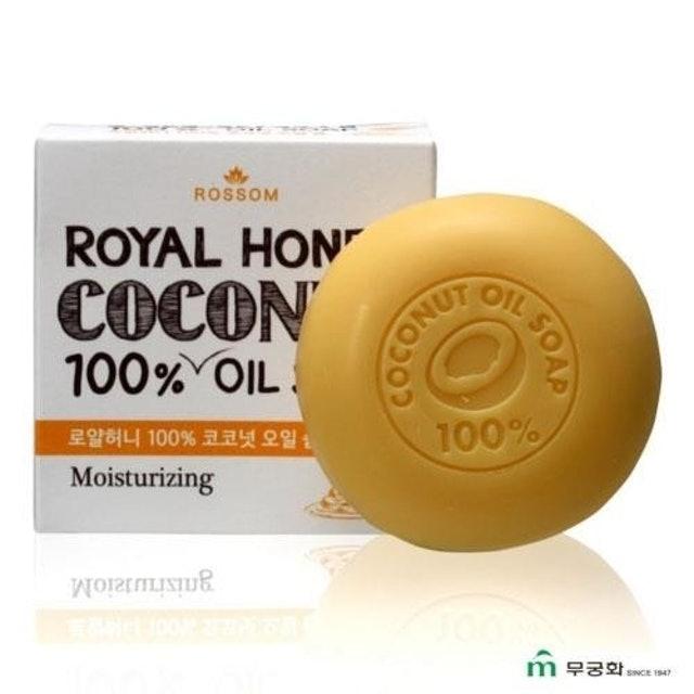 韓國 ROSSOM  100%椰子油皇家蜂蜜美顏皂 1