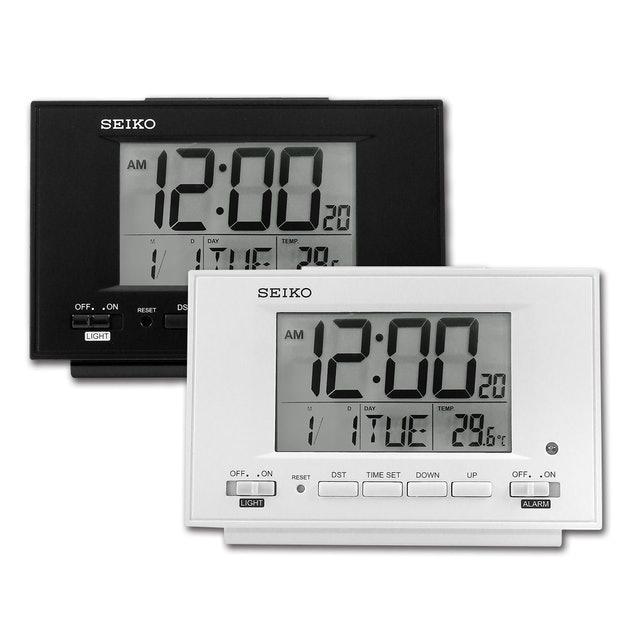 SEIKO精工 自動感光溫度日期貪睡鬧鈴 1