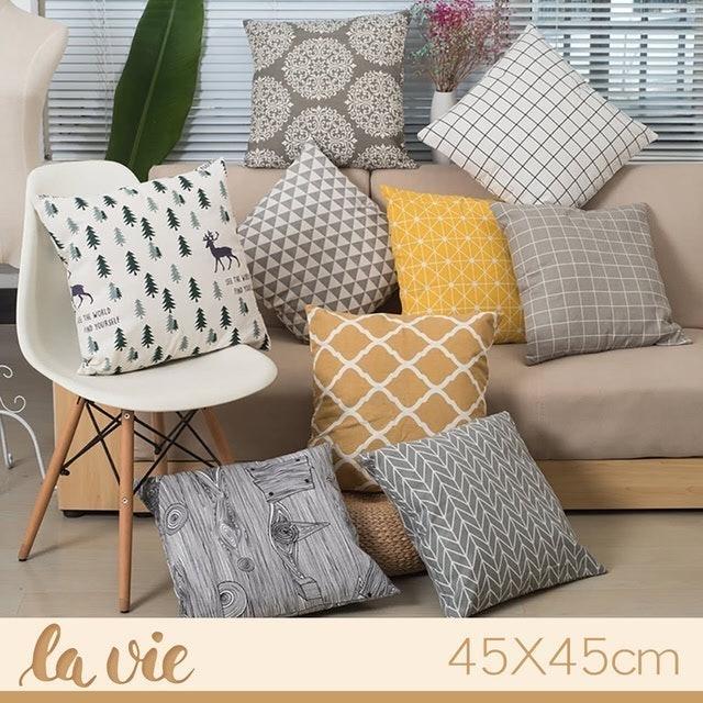 La Vie zakka 簡約沙發抱枕套 1