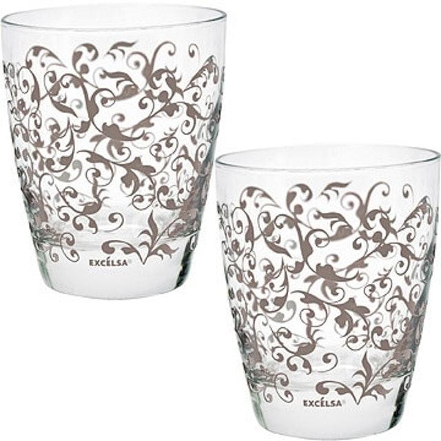 EXCELSA  藤蔓玻璃對杯 1