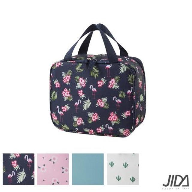 JIDA  290D 雙面斜紋化妝包 附化妝鏡 1