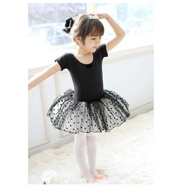 黑色短袖兒童芭蕾舞衣 1
