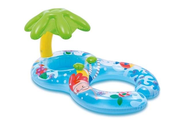 INTEX 親子互動遮陽雙人游泳圈 1