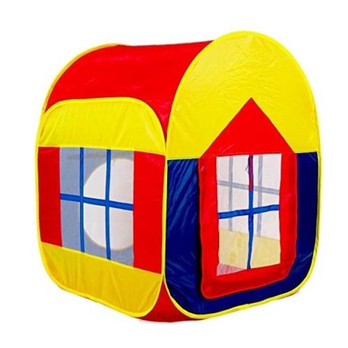 小球不容易散落一地的「房屋式球屋」