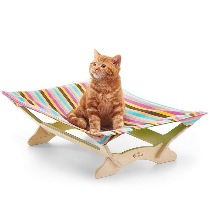 放置型吊床:適合警戒心高的貓咪