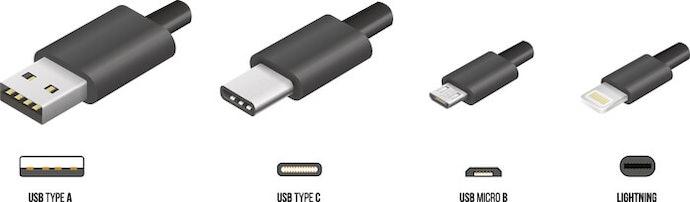 確認 USB 連接埠的類型